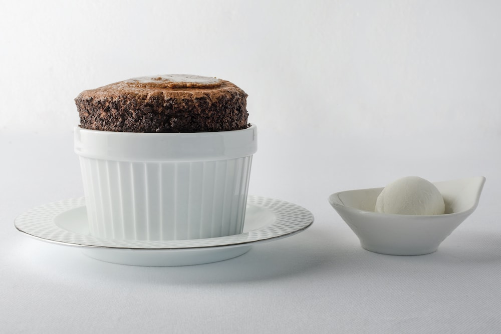 Soufflé with chocolate and Lagavulin whisky
